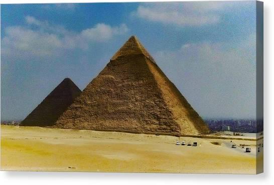 Pyramids, Cairo, Egypt Canvas Print