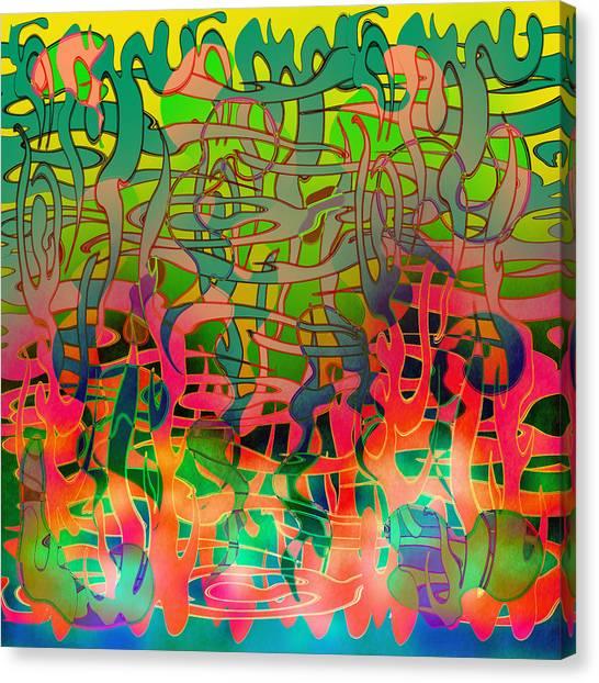 Pyschedelic Alba Canvas Print by Grant  Wilson