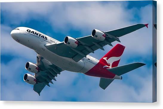 Qantas A380 Canvas Print