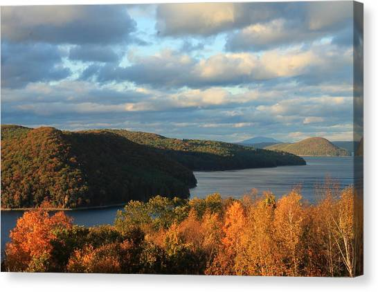 Quabbin Reservoir Foliage View Canvas Print