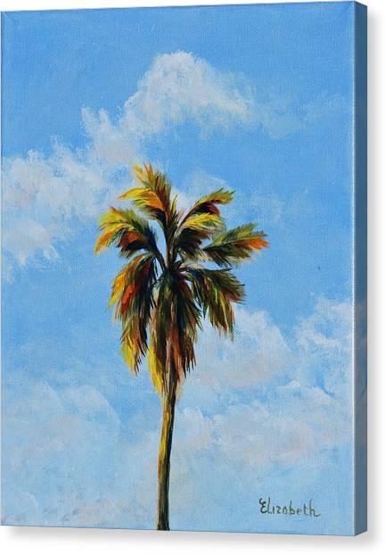 Quad Palms 3 Of 4 Canvas Print by Beth Maddox