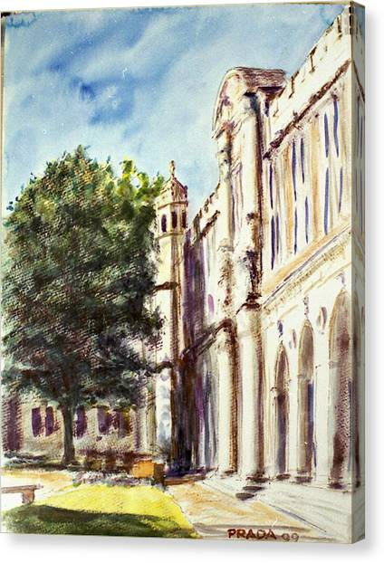 Saint Louis University Canvas Print - Quad South Facade by Horacio Prada