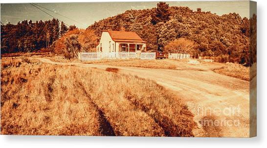 Cottages Canvas Print - Quaint Country Cottage by Jorgo Photography - Wall Art Gallery