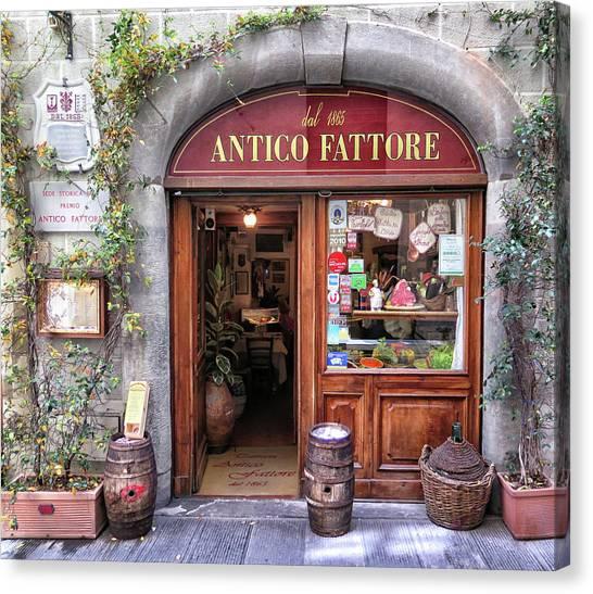 Quaint Restaurant In Florence Canvas Print