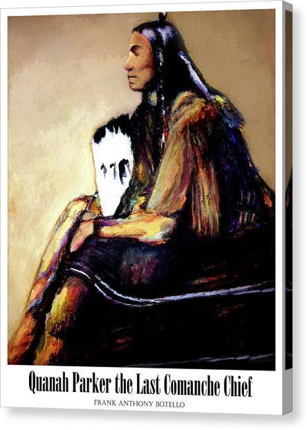 Quanah Parker The Last Comanche Chief II Canvas Print