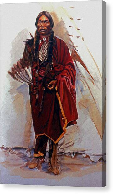 Teepee Canvas Print - Quannah Parker by Harvie Brown