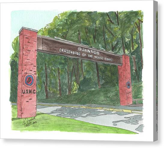 Quantico Welcome Canvas Print