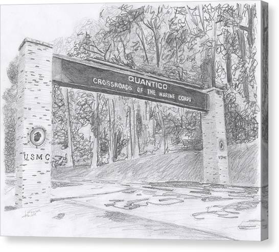 Quantico Welcome Graphite Canvas Print