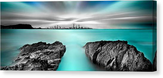 Quantum Divide Panorama Canvas Print by Az Jackson