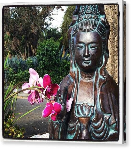Mercy Canvas Print - #quanyin #shrine #buddhism by Alicia Boal