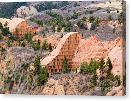 Quarry At Red Rock Canyon Colorado Springs Canvas Print