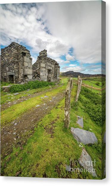 Dilapidated Canvas Print - Quarry Cottage  by Adrian Evans