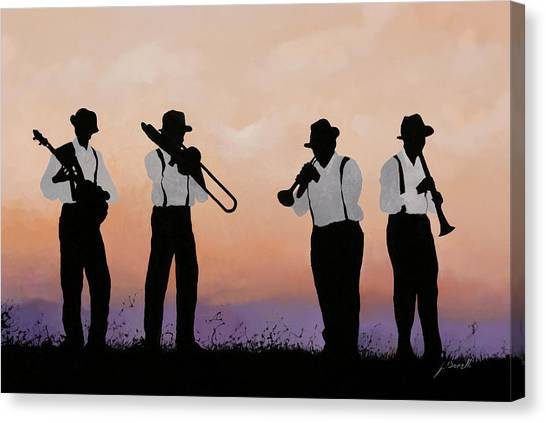 Jazz Canvas Print - Quattro by Guido Borelli