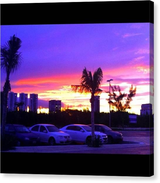 Kenyan Canvas Print - Que Atardecer!! #sunset #cancun #nature by Kenya Bates