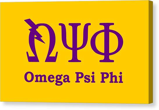 Omega Psi Phi Canvas Print - Omega Psi Phi by Sincere Taylor