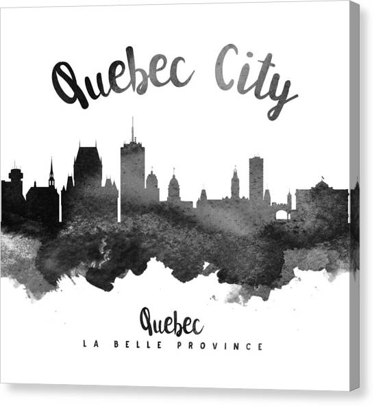 Quebec Canvas Print - Quebec City Skyline 18 by Aged Pixel