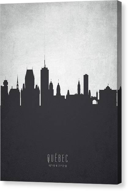 Quebec Canvas Print - Quebec Cityscape 19 by Aged Pixel