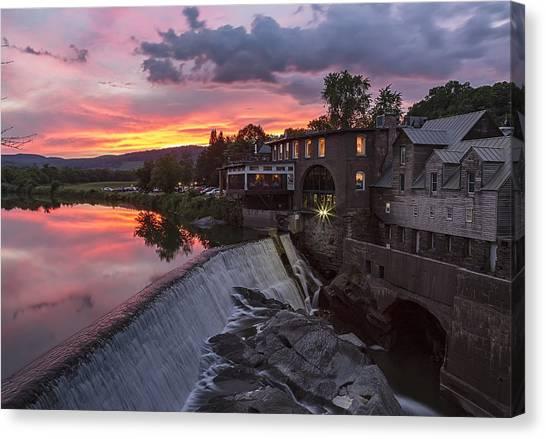 Quechee Vermont Sunset Canvas Print