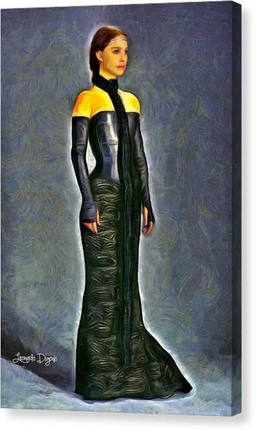 Padawan Canvas Print - Queen Amidala Dinner Costume - Da by Leonardo Digenio