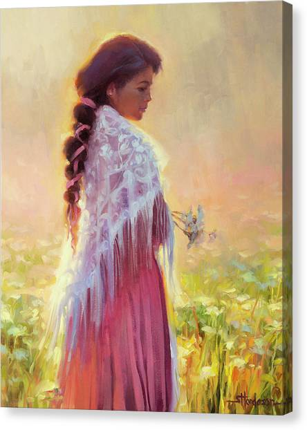 Nature Abstract Canvas Print - Queen Anne's Lace by Steve Henderson