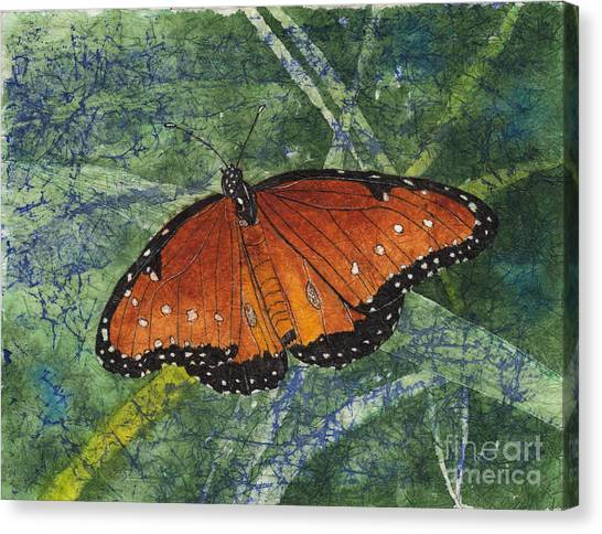 Queen Butterfly Watercolor Batik Canvas Print