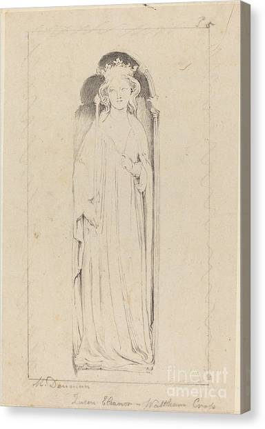 Canvas Print - Queen Eleanor, From Waltham Cross by Maria Denman After John Flaxman