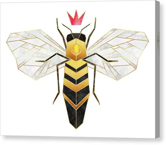 Wasp.insect Canvas Print - Queen by Elisabeth Fredriksson