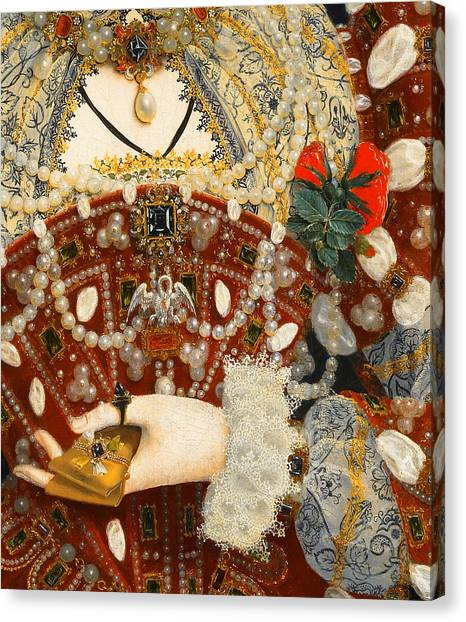 Queen Elizabeth Canvas Print - Queen Elizabeth I   Detail From The Pelican Portrait by Nicholas Hilliard