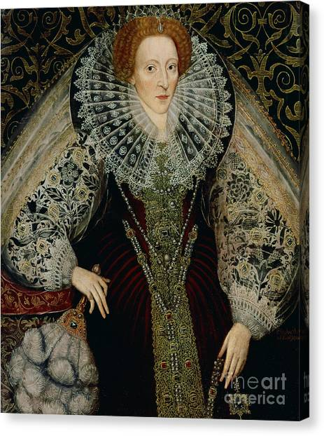 Ostriches Canvas Print - Queen Elizabeth I by John the Younger Bettes