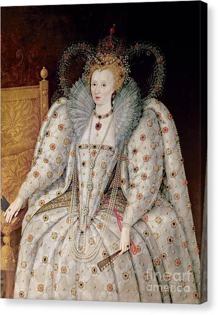 Queen Elizabeth Canvas Print - Queen Elizabeth I Of England And Ireland by Anonymous