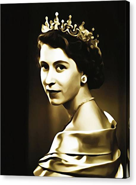 Queen Elizabeth Canvas Print - Queen Elizabeth II by Bill Cannon