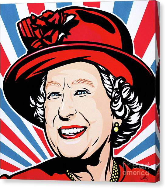 Queen Elizabeth Canvas Print - Queen Elizabeth II by James Lee