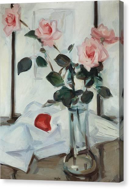 Queen Elizabeth Canvas Print - Queen Elizabeth Roses by Samuel John Peploe
