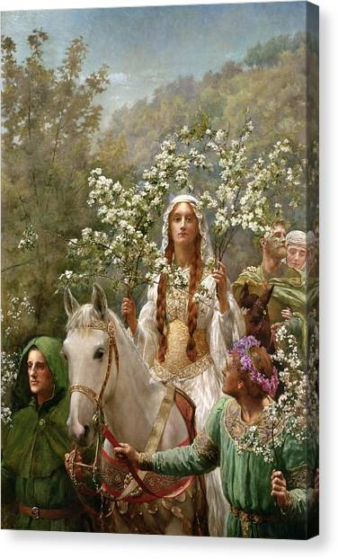 Attendant Canvas Print - Queen Guinevere by John Collier