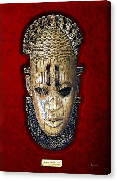 Ivory Canvas Print - Queen Mother Idia - Ivory Hip Pendant by Serge Averbukh