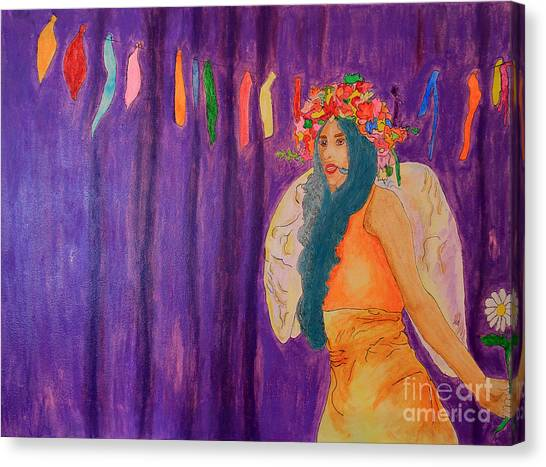 Matting Canvas Print - Queen Of May by Debbie Davidsohn