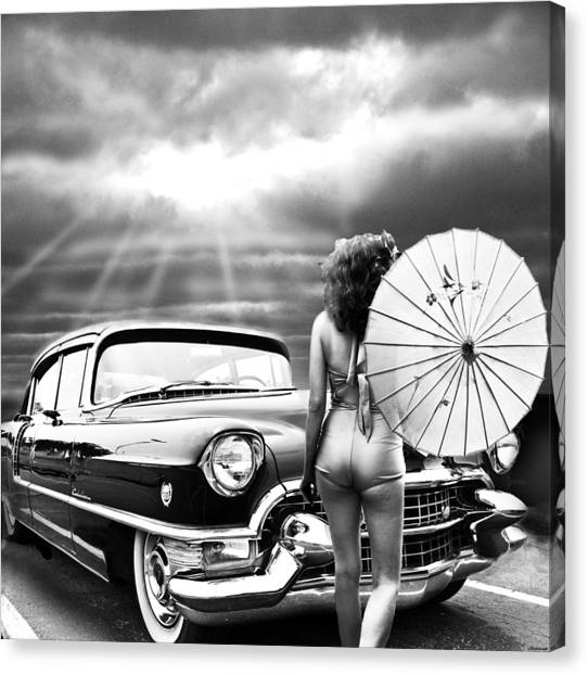 Queen Of The Highway 2 Canvas Print by Larry Butterworth