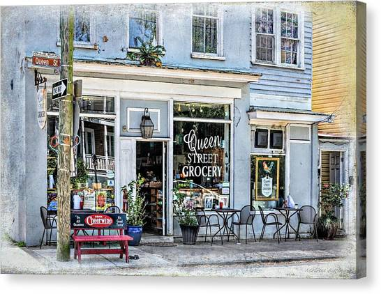Cheerwine Canvas Print - Queen Street Grocery Charleston South Carolina by Melissa Bittinger