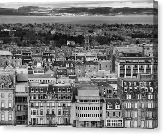 Canvas Print featuring the photograph Queen Street To The Forth by Adrian Pym