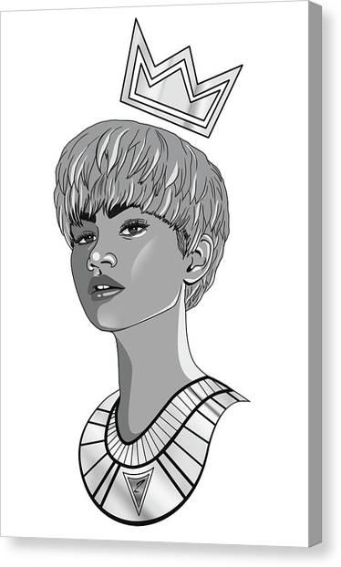 Queen Zendaya Canvas Print by Kenal Louis