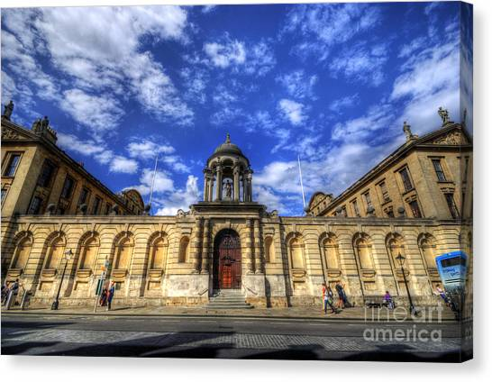 Queens College - Oxford Canvas Print