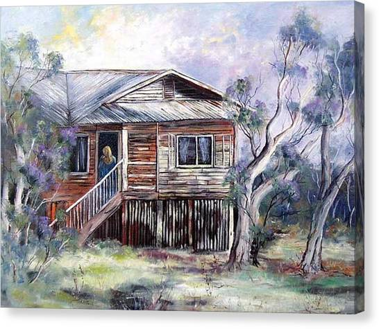 Queenslander Style House, Cloncurry. Canvas Print