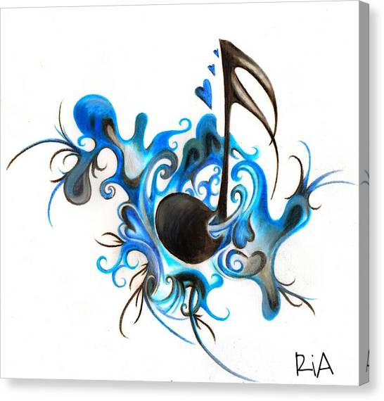 Tattoo Canvas Print - Quenched By Music by Artist RiA