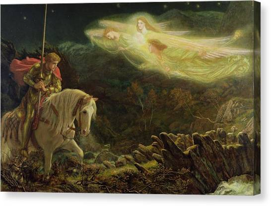 Bridle Canvas Print - Quest For The Holy Grail by Arthur Hughes