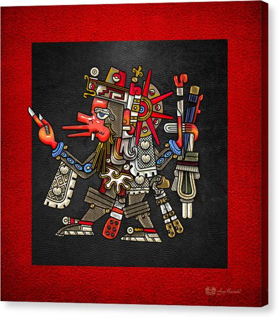 God Canvas Print - Quetzalcoatl - Codex Borgia by Serge Averbukh