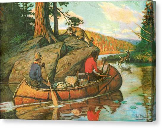 Canoe Canvas Print - Quick Action by JQ Licensing
