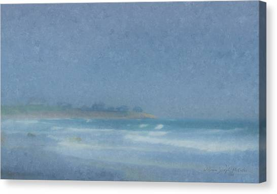 Foggy Afternoon At Little Compton Ri Canvas Print