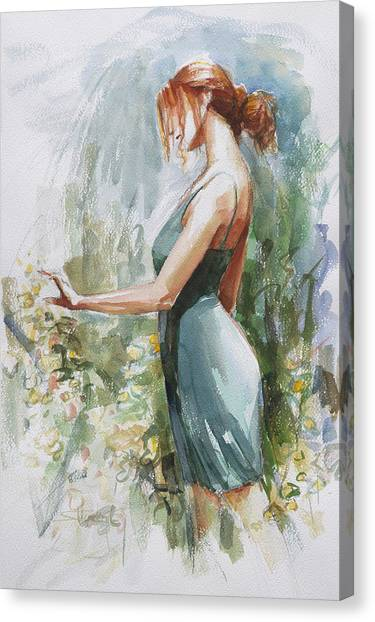 Boudoir Canvas Print - Quiet Contemplation by Steve Henderson