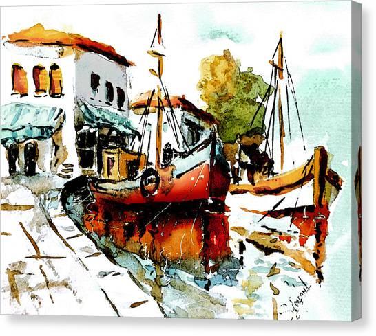 Quiet Corner On The Med Canvas Print