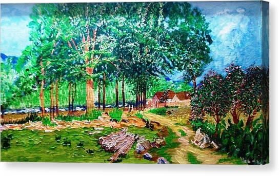 Quiet Countryside Canvas Print by Narayan Iyer